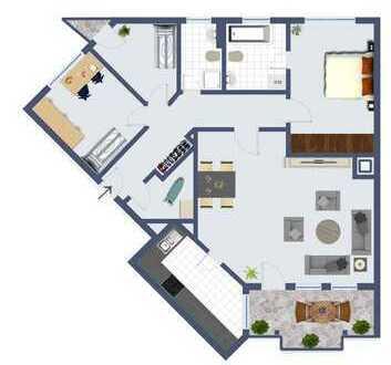 großzügige 4 Zimmerwohnung in Hilden - Nähe Rauthauscenter!
