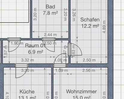 Preiswerte 2-Zimmer-Wohnung in zentraler & dennoch naturnaher Lage in Geringswalde