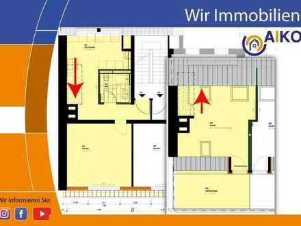 Schöne 2 Zi. Maisonette-Wohnung mit großer Dachterrasse - nach Kernsanierung