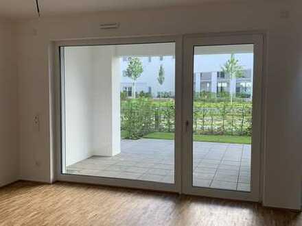 2-Zimmer Wohnung mit EBK und Garten am Zollhafen in Mainz