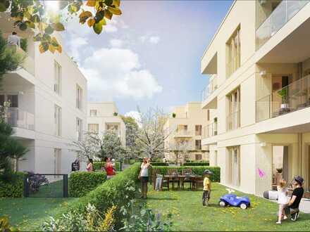 4-Zi.-Gartenwohnung mit 2 Bädern + Terrasse in grüner Umgebung