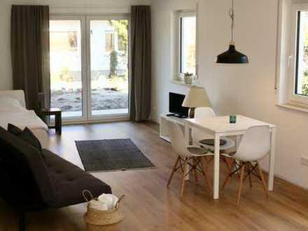 Erstbezug: exklusive 1,5-Zimmer-EG-Wohnung, möbliert, in zentraler Lage von Filderstadt