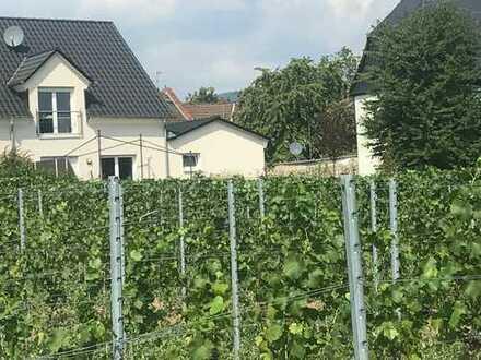 Neuwertige DHH mit großem Garten in Rheinlage