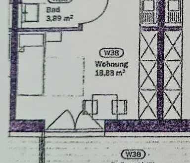 Erstbezug nach Sanierung: altersgerechte 1-Zimmer-Wohnung mit Einbauküche und Balkon in Nabburg