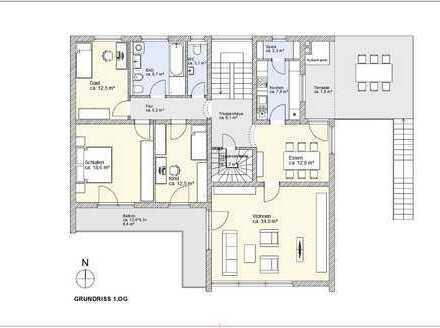 Schöne große modernisierte 8-Zimmer-Wohnung mit Garten in Passau