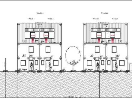 Baugrundstück mit 4 geplanten Doppelhaushälften