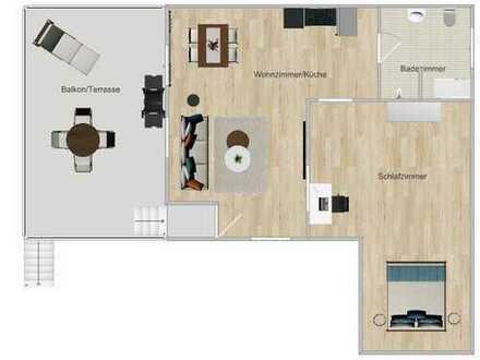 City Wohnung in Freiburg Herdern/ 2-Zimmer