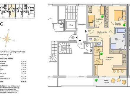 Hochzoll Neubau 3 ZKB Erdgeschosswohnung in TOP Lage incl. Küche