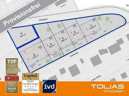 Provisionsfrei - attraktives Baugrundstück ca.651 m² für freistehendes Einfamilienhaus