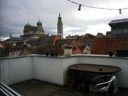 Zimmer in wunderschöner Altbauwohnung mit 2 Dachterrassen
