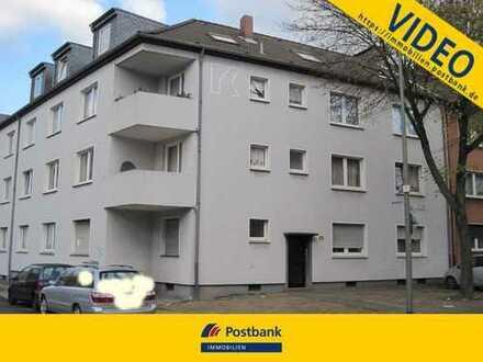 Apartment im EG mit ca. 31m², 1,5 Zimmer, Küche, Diele, Bad in Duisburg-Meiderich, Augustastr.