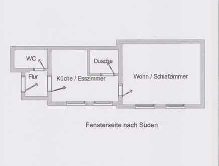 Modernisierte 2-Zimmer-Erdgeschosswohnug mit Terasse