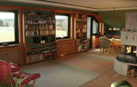 Exklusive Wohnung mit grandiosem Fernblick im Naturpark Fichtelgebirge