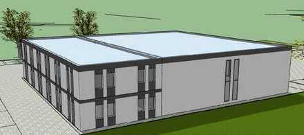 Neubauprojekt - Gewerbehalle mit Büroflächen an der A4