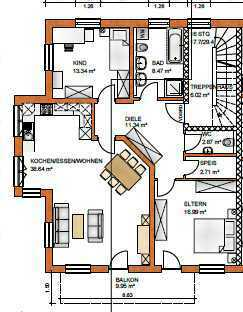 Erstbezug: ansprechende 4-Zimmer-Wohnung mit Balkon in Oderding