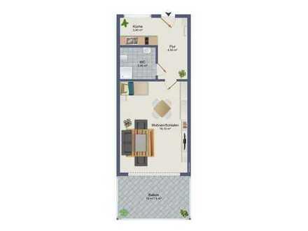 Möbilierte, helle grozügige 1-Zimmer Wohnung in Solln