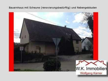 Bauernhaus mit Scheune (renovierungsbedürftig) und Nebengebäuden