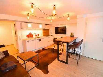 Möblierte, 2-Zimmerwohnung mit Einbauküche, Gäste-WC, Terrasse und Garten in ruhiger Lage !!