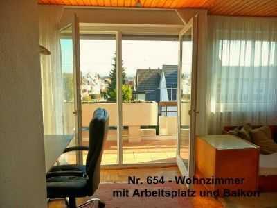 ab 1 Monat: möbl. 2-Zimmerwohnung mit Wlan, TV, Balkon, löffelfertig komplett ausgestattet
