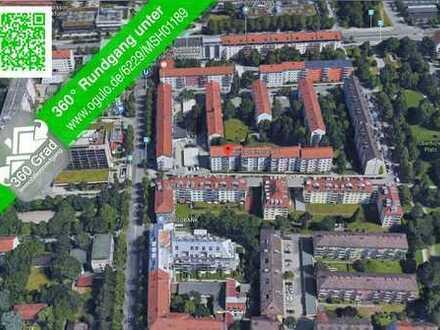 Hübsche, moderne 1-Zimmer-Wohnung mit Küche in Schwabing/Milbertshofen