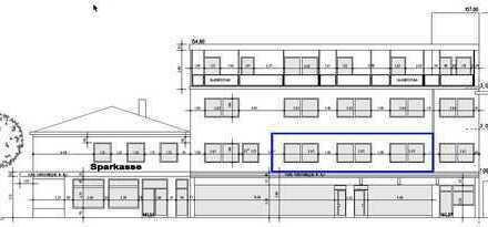 Aufzug, große Fenster und Räume mit Dach-Terasse zum Innenhof