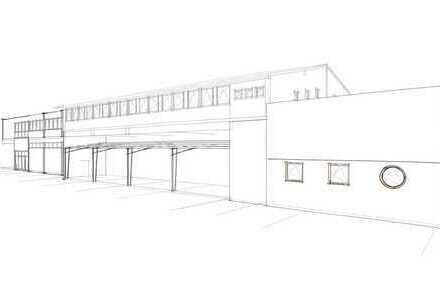 Helle Hallenflächen im 1. OG eines Gewerbeanwesens in Daxlanden