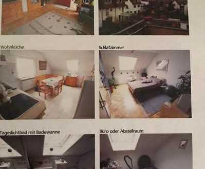 Privat ohne Provision: Gepflegte 2,5-Zimmer-DG-Wohnung mit Balkon in Filderstadt