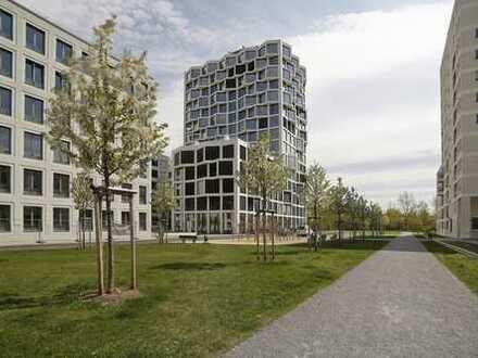 MGF-Group: Exklusive 3-Zimmerwohnung mit 110 qm Wohnfläche im FRIENDS TOWER von Nymphenburg.