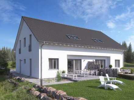 Eine Haushälfte mit viel Platz und großem Grundstück! So wird Ihr Neubau günstig!