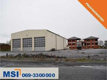 PROVISIONSFREI! Moderne Lagerhalle mit Büro- und teilweise Wohnnutzung und großer Freifläche