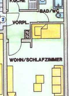 1-Zimmer-Wohnung in Augsburg Hochzoll