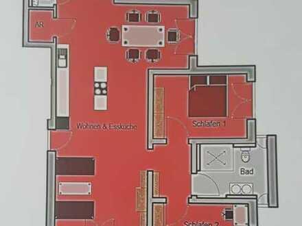 Neuwertige 3-Raum-Wohnung mit Balkon und Einbauküche in Zapfendorf
