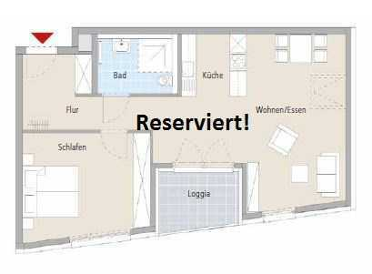 Sonnige 2-Zimmer-Wohnung im betreuten Wohnen