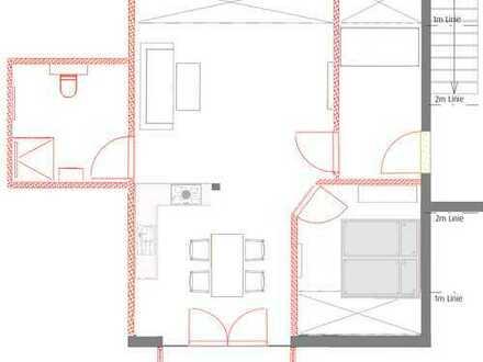 Neubau 1,5 Zimmer DG Wohnung mit Balkon