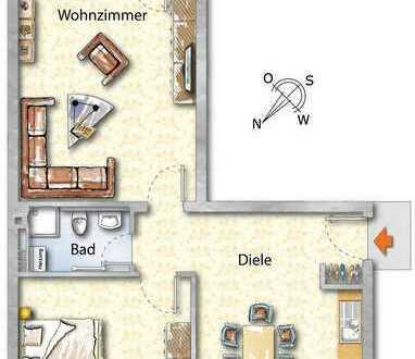 Vollständig modernisierte, helle 2- Zimmer-Balkonwohnung mit perfekter Anbindung