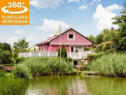 Energieeffizientes 2-FH mit Anbauten und ELW auf großem Grundstück in naturnaher Lage von Meerholz