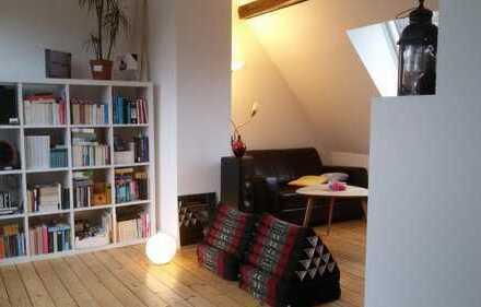 room in beautiful attic apartment