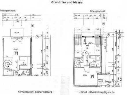 Gepflegte 3-Zimmer-Maisonette-Wohnung mit Balkon und Einbauküche in Herdecke