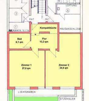 2-Zimmer-Wohnung in Ludwigshafen/Rhein, 80 qm, vollständig renoviert
