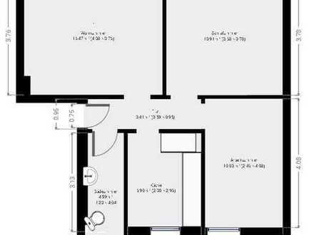 Attraktive 3-Zimmer-Hochparterre-Wohnung zur Miete in Wiesbaden