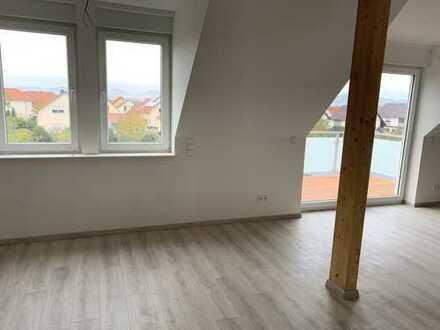 Erstbezug: ansprechende 4-Zimmer-DG-Wohnung mit Balkon in Landau in der Pfalz Ortsteil Mörlheim