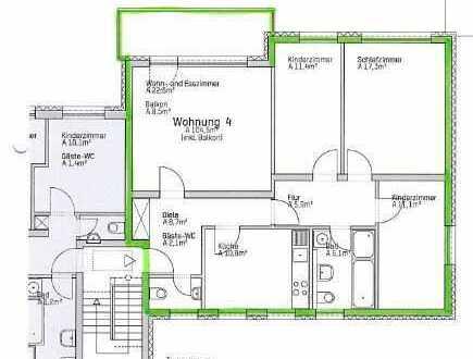 4-Zimmer Wohnung auf ca.97m² Wfl mit Balkon mit Panoramblick .
