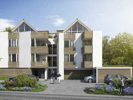 Rohbau fertig: Außergewöhnliche DG-Wohnung mit großzügigem Wohn-/Essbereich und Dachterrasse