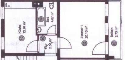 Gepflegte 2-Zimmer-Wohnung mit Balkon in Schmieheim