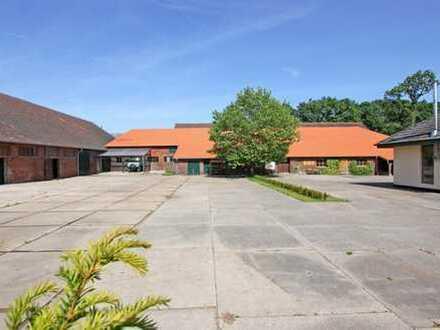 Gewerbehalle mit 2 Werkstätten sowie ein Gastronomiebereich in Schermbeck