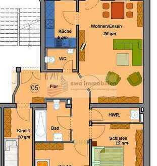 Attraktive 4-Zimmer-Wohnung mit Balkon und Einbauküche in Leipzig