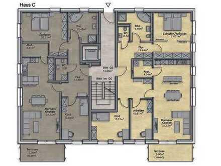 Innovative Wohnanlage - Moderne EG-Wohnung mit Terrasse & eigenem Garten im KfW-Effinzinzehaus 55