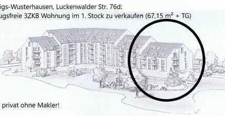 Bezugsfreie attraktive 3-Zimmer-Wohnung mit 2 Balkonen in Königs-Wusterhausen