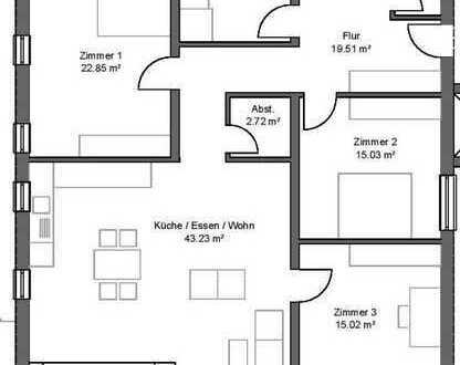 Barrierfreie 4ZKB-Eigentumswohnung in modernem Neubau in absoluter Citylage in 68723 Schwetztingen!