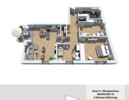 Besichtigung jeden Samstag 12:30 - 13:30Uhr; Imposante 4-Zimmer Wohnung (Whg. 18)